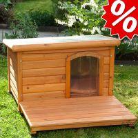 zooplus IT Backyard Set completo + cuccia in legno Woody - - Set taglia M