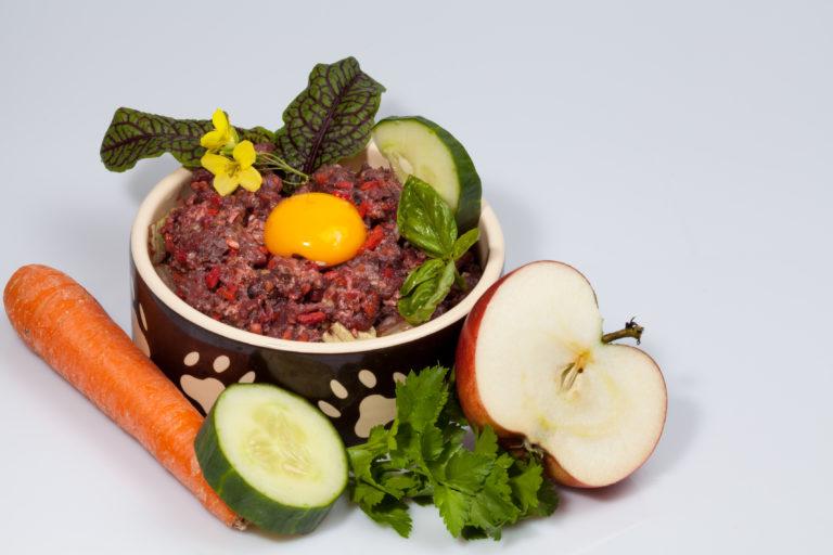 verdure e carne per cani